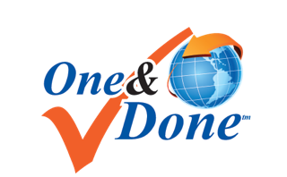 Logo for One and Done™ program that allows us to electronically report pharmaceutical returns data and destroy product